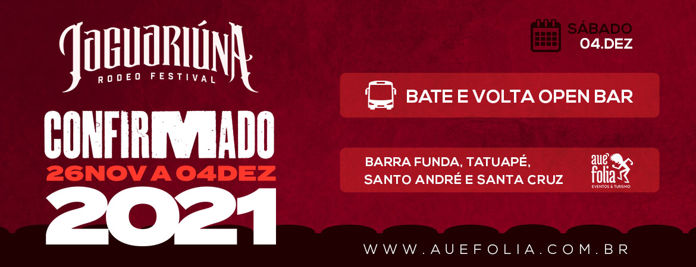 Rodeio de Jaguariúna 2021 - Sábado 04/Dezembro